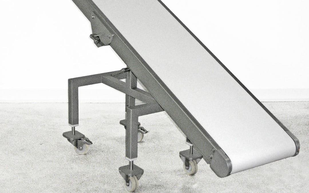 Ascending conveyor belt